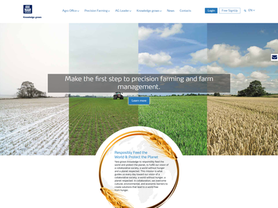 YARA Agro Office Bulgaria / Web Design agro agro software website ux ui design
