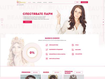 Subscription type beauty studio / Web Design subscription services platform beauty website ux ui design