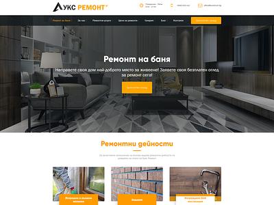 Renovation Services / Web Design website ux ui design
