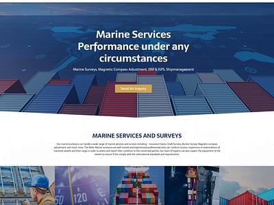 Marine Services / Web Design / reDesign marine survey stevedoring maritime marine services website ux ui design