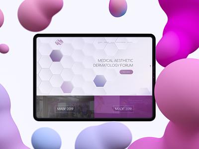 Medical Aesthetic Dermatology Forum - web design - visualisation forum dermatology medical website ux ui design