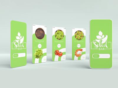 Create your own salad - App Design restaurant food app application website ux ui design