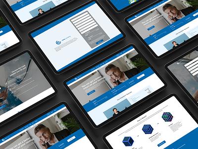 Investment Company - web design finance fintech investing services website ux ui design