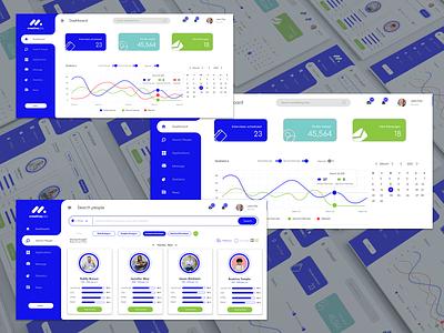 Job Search / Dashboard UI / Recruitment - Web Design creative interview profile recruitment job search dashboard services website ux ui design