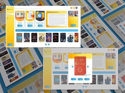 Online library / Dashboard UI / Rent-a-book - Web Design books dashboard online library services website ux ui design
