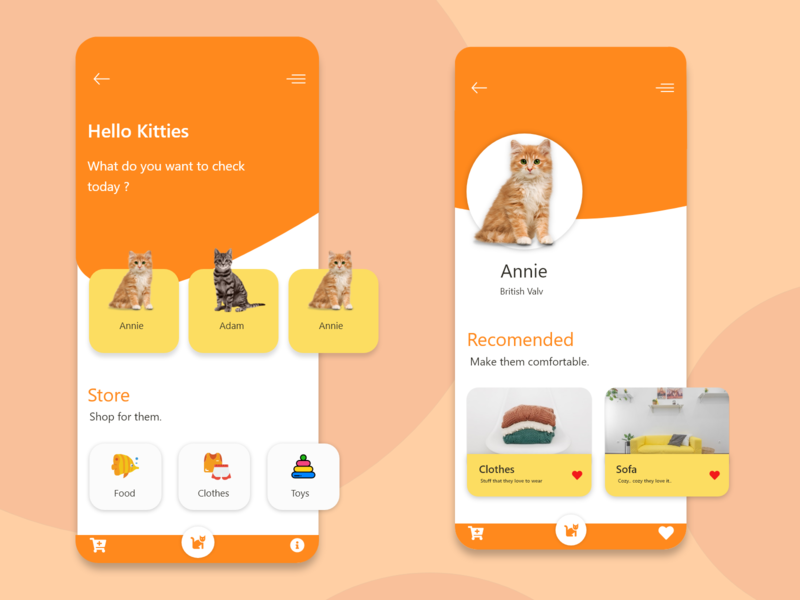 Cat Lovers App design