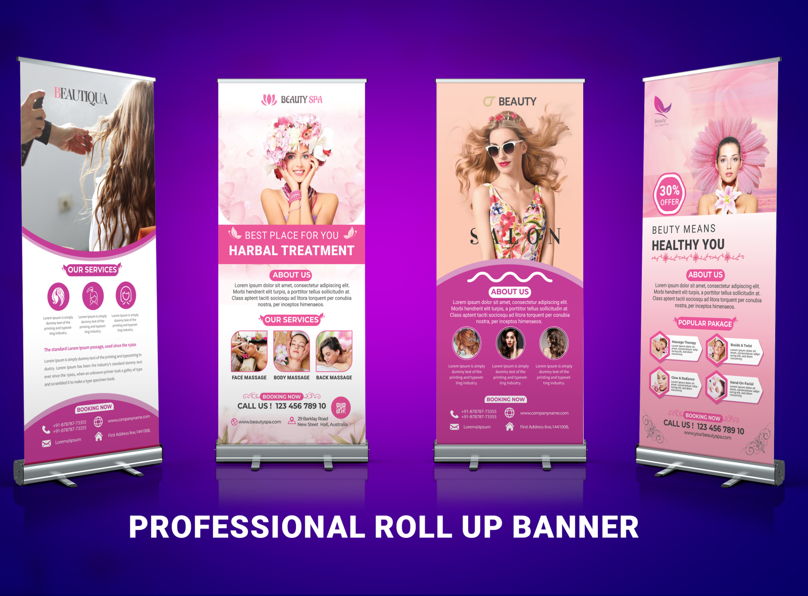 Spa Roll Up Banner Design 2020 With Free Mockup By Md Rahmat Ali On Dribbble