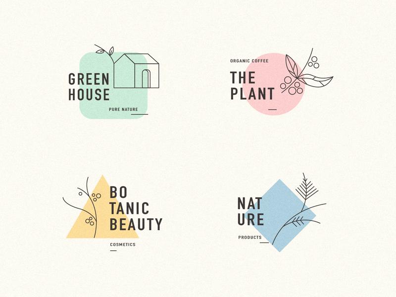 Minimal Logo Collection logo vector illustration design