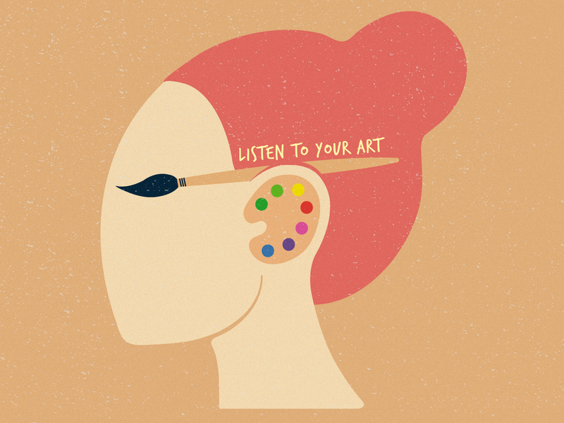 Listen To Your Art illustration vector
