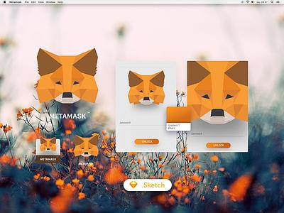 Metamask Fox Logo fox fractal facet facets metamask metamask logo