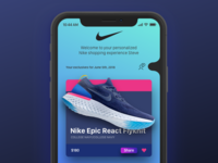 A personalized Nike shopping experience