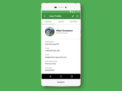 Daily UI - User Profile Android App