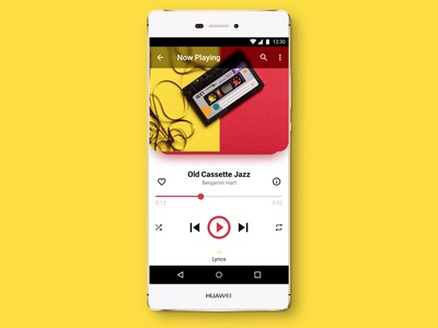 Daily UI - Music Player Mobile App