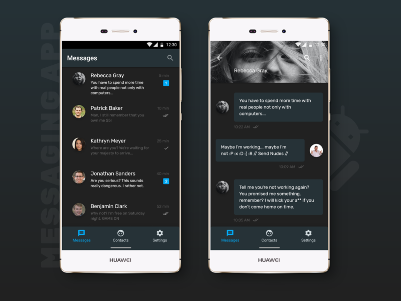 Daily UI - Messaging App / Communication App