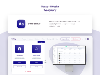 Gauzy Platform - Website - UX/UI Design & Prototype ui uidesign ui design web design typography