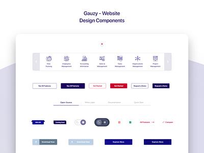 Gauzy Platform - Website - UX/UI Design & Prototype component design design components components ui ui design uidesign