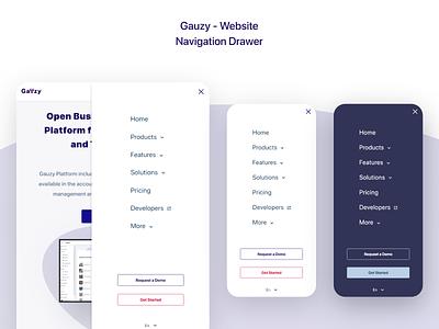 Gauzy Platform - Website - UX/UI Design & Prototype design ui ui design uidesign tablet menu smartphone menu nav menu navigation menu navigation drawer nav drawer