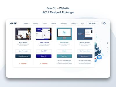 Ever Co. - Website - UX/UI Design & Prototype web design big menu mega menu ui ui design uidesign