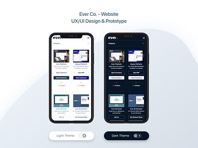 Ever Co. - Website - UX/UI Design & Prototype design ui dark design light design smartphone design ui design uidesign