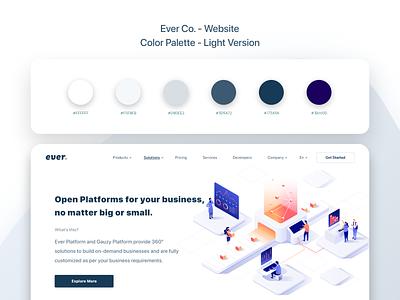 Ever Co. - Website - UX/UI Design & Prototype website colors color palettes light design light colors color palette ui design ui design uidesign