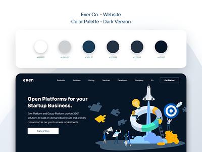 Ever Co. - Website - UX/UI Design & Prototype ui ui design uidesign color palette dark design dark palette