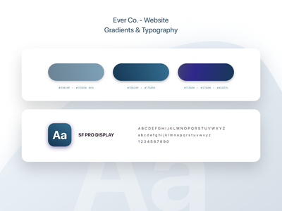 Ever Co. - Website - UX/UI Design & Prototype typography gradient color gradients gradient design ui ui design uidesign