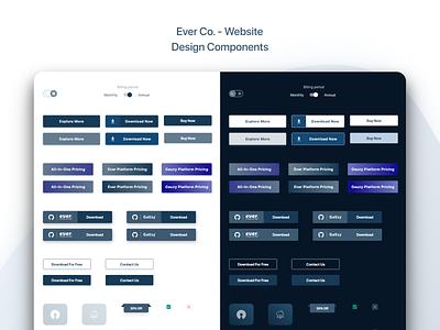 Ever Co. - Website - UX/UI Design & Prototype design system design components ui ui design uidesign
