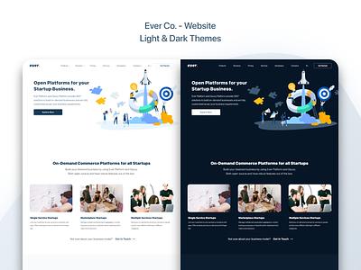 Ever Co. - Website - UX/UI Design & Prototype ux desgin dark design light design web design ux design ui design uidesign ui