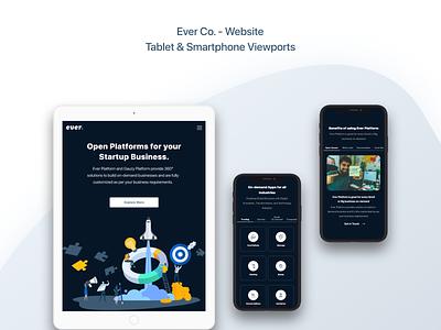 Ever Co. - Website - UX/UI Design & Prototype tablet smartphone web design responsive design ui ui design uidesign