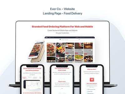Ever Co. - Website - UX/UI Design & Prototype landingpage landing design web design design ui uidesign ui design landing page design landing page