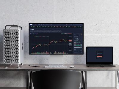 AI LGO - Trading Platform - UI Design trading trading platform dark design ui ui design uidesign