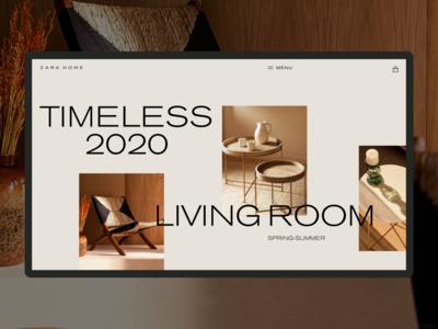 1. TIMELESS home zara minimal web ux ui typography design