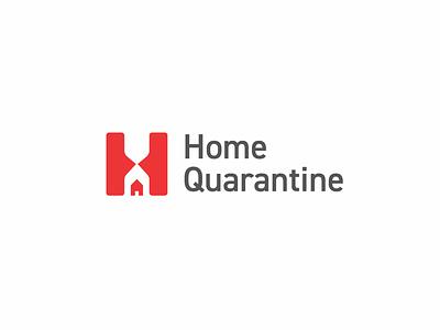 Home Quarantine Logo timer time home-logo logo-inspire logo-design logo-inspiration stay-safe home-quarantine home branding logo
