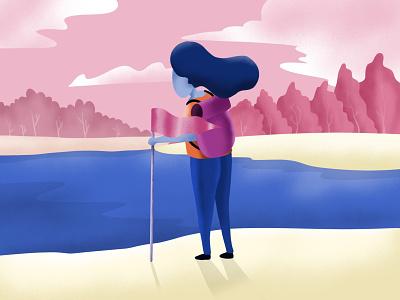 No way hardwork hiking webheader inspiraldesign vector flat illustration inspiration illustration