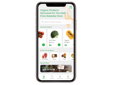 Organic Grocery Shop Mobile App grocery app grocery ui design uidesign ui app design mobile app mobile ui shopping shopping app shopping cart ecommerce ecommerce app shop app mobile design store grocery marketplace cart