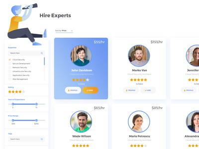 Hire Expert search illustration job hire projects user expert