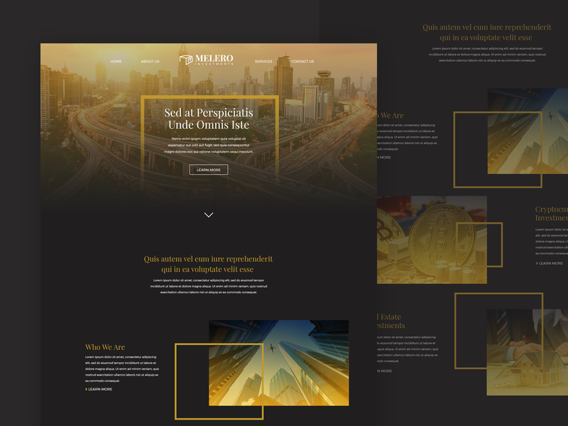 Dark Landing Page UI website ux ui landingpage gradient finance desktop design dark creative clean