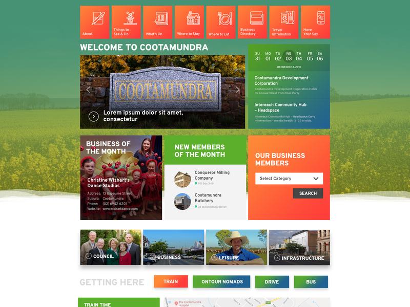 Directory-HomePage homepage design web design ui ux directory