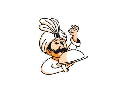 Indian chef illustration food chef indian logo