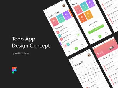 Todo App Design Concept app design design concept calendar vector ux ui figmadesign figma todo list app listing list todo app todolist todo