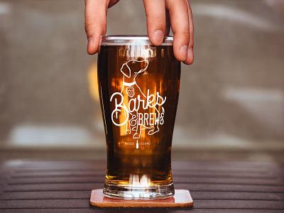 Barks & Brews Rhode Island adobe illustrator tshirt hat design poster design brewery beer dog illustration event design graphic design