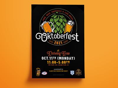 Oktoberfest 2021 badge vector illustration graphic design event design poster oktoberfest beer