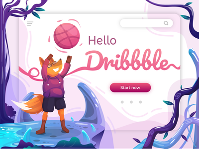 Hello Dribbble! debuts debutshot dribbble invite debut vector flat ui design illustration
