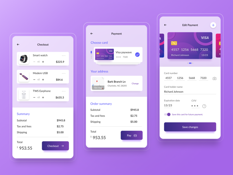 Daily UI #002 / Credit Card Checkout dailyui 002 credit card form pay order ui design card payment method credit card checkout checkout ux ui daily 100 challenge dailyui app design