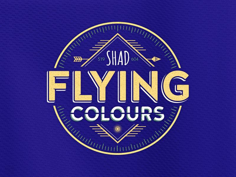 Flying Colour [John Stockton Edition] shad t-shirt apparel clothing logo tees