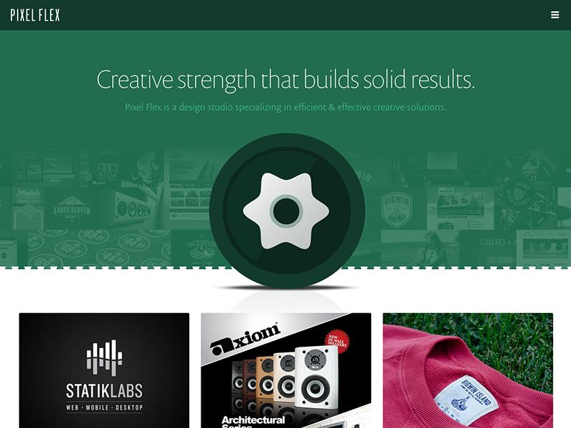 Pixel Flex Website Launch website portfolio responsive green launch