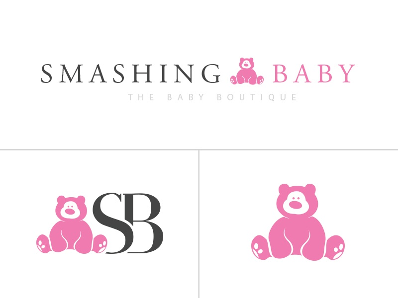 Smashing babay logo dribbble