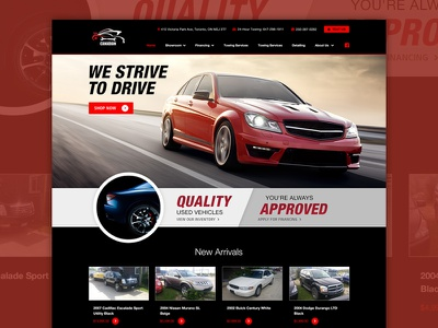 Auto Website Interface #1 clean dealer web design ui cars auto layout interface website