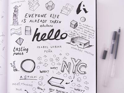 Creative Directions 2017: Sketchnotes typography sketchnotes sketch pen paper notebook ink illustration lettering drawn hand book
