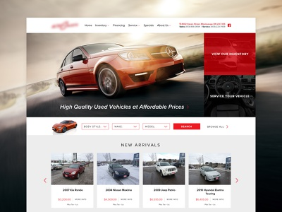 Auto Website Interface #2 website design web ui layout interface dealer clean cars auto